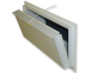 Framed inlet doors